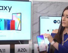 Andrea González presentó los nuevos modelos de Samsung de la serie Galaxy. Foto Prensa Libre: Cortesía