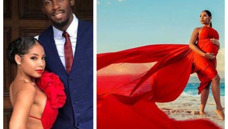 Usain Bolt y su pareja, Kasi Bennett, celebraron el nacimiento de su primera hija. (Foto Prensa Libre: Instagram @kasi.b)