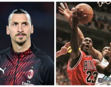 Zlatan Ibrahimovic se compara con Michael Jordan. (Foto Prensa Libre: AFP y Hemeroteca PL)