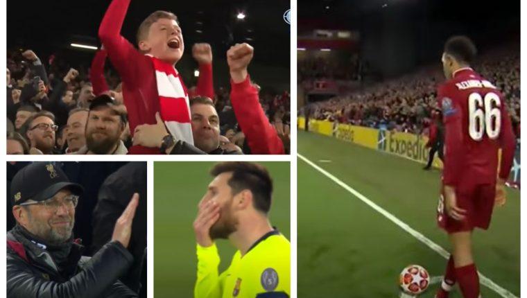 El Liverpool vivió una noche mágica en Anfield, frente al Barcelona. (Foto Prensa Libre: Youtube)