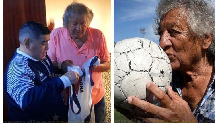 Diego Maradona compartió estas fotografías junto a 'el Trinche' Carlovich. (Foto Prensa Libre: Instagram @maradona)