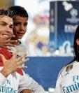 Cristiano Ronaldo festejó la Champions en Kiev junto a su familia. (Foto Prensa Libre: Hemeroteca PL)