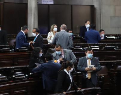 Diputados, durante una sesión plenaria en el hemiciclo. (Foto Prensa  Libre: Congreso de la República)