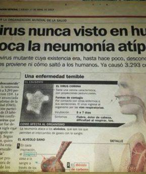 ¿Un diario reveló por primera vez en 2003 el coronavirus? Verificamos por usted