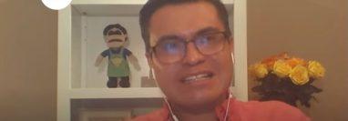 Edgar Rosal, gerente de marca de Señorial, habló durante un webinar organizado por Hablemos de Dinero, sobre publicidad en tiempos de coronavirus. (Foto Prensa Libre: Captura Youtube)