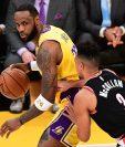 LeBron James, jugador de los Lakers expresó su opinión en redes sociales por la muerte de un hombre afroamericano. (Foto Prensa Libre: AFP)