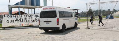 El hospital temporal para pacientes con coronavirus funciona en el campo de la feria de Xela y está ocupado en un 80 por ciento. (Foto Prensa Libre: María Longo)