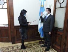 Jorge Juan Gualberto de León Herrera es el nuevo gobernador de Huehuetenango. (Foto Prensa Libre: Presidencia)