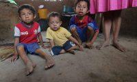 Familia Ramirez, con problemas de desnutrici—n ella tiene 4 hijos y tienen problemas con alimentaci—n de sis hijos y los gobernantes no les han llevado ayuda.   Fotograf'a. Erick Avila:               28/04/2020