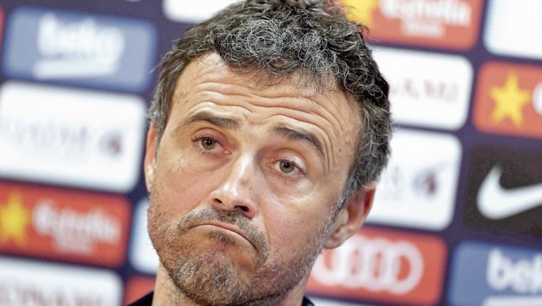 A Luis Enrique, técnico de la Selección de España, no le gusta el futbol sin público. (Foto Prensa Libre: Hemeroteca PL)