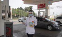 Con la entrega de mascarillas Shell sigue contribuyendo al combate del covid-19. Foto Prensa Libre: Cortesía