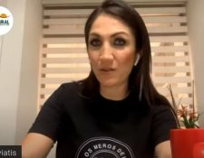 Mirciny Moliviatis, chef y empresaria guatemalteca participó en el tercer webinar de Hablemos de Dinero. (Foto Prensa Libre: Captura de pantalla Youtube)