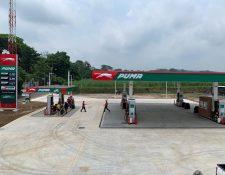 Moto Express de Puma Energy viene para agilizar el despacho de combustible a los motociclistas. Foto Prensa Libre: Cortesía
