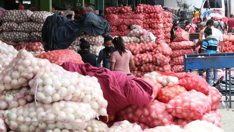 La cebolla es uno de los commodities que registró un incremento en septiembre, según el INE.  (Foto de prensa libre: Hemeroteca)
