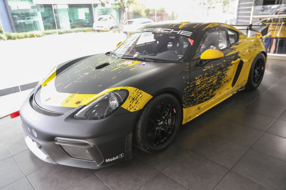 El Porsche 718 Cayman GT4 Clubsport llega para recorrer las pistas en Guatemala