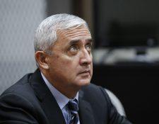 Expresidente Otto Pérez Molina buscará una vez más el beneficio del arresto domiciliario. (Foto Prensa Libre: Hemeroteca PL)