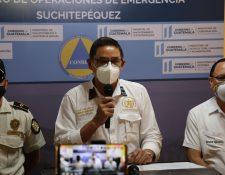 Luis Sam, gobernador departamental de Suchitepéquez, informó sobre el aumento de casos en el departamento, hasta este sábado son 12 casos confirmados. (Foto Prensa Libre: Marvin Túnchez)