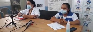 Autoridades del Área de Salud de Ixcán, Quiché, dan a conocer los cuatro casos de covid-19 en ese municipio. (Foto Prensa Libre: Héctor Cordero)
