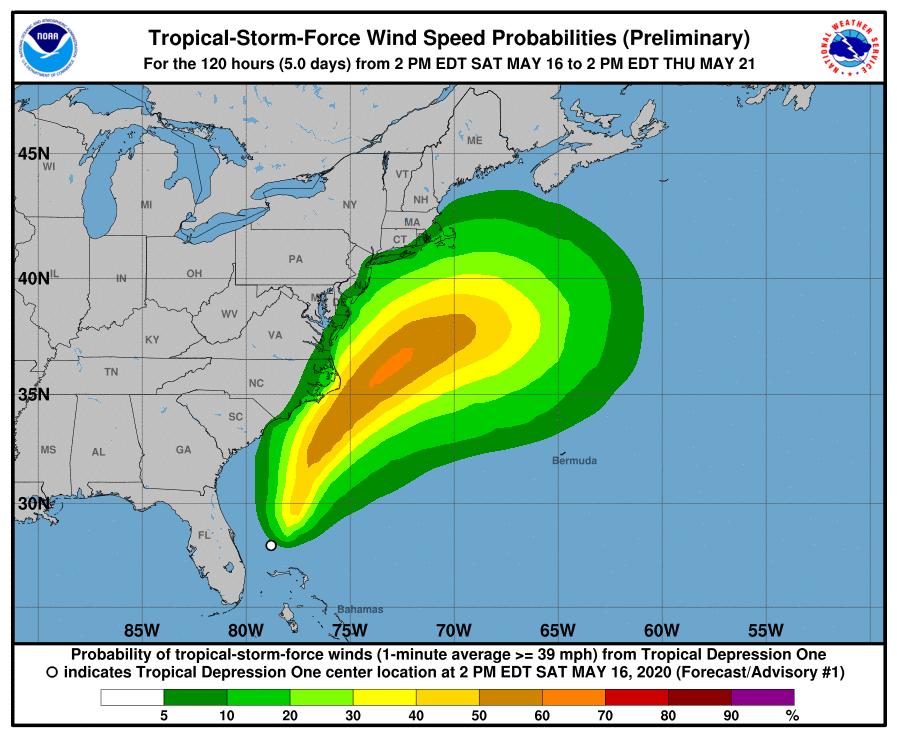 """Aumenta al """"100 %"""" posibilidad de formación de la primera tormenta atlántica"""