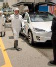 Los astronautas Douglas Hurley y Robert Behnken, son los protagonistas de esta aventura espacial. (Foto Prensa Libre: AFP).