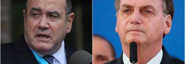 Alejandro Giammattei y Jair Bolsonaro manifestaron en redes sociales la intención de reunirse luego de la emergencia por el coronavirus. (Foto HemerotecaPL)