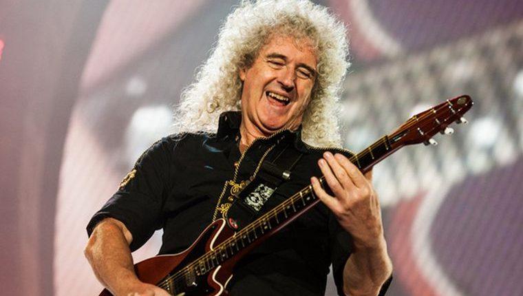Brian May, guitarrista de Queen, debió ser llevado de emergencia al hospital. (Foto Prensa Libre: Antena 3)