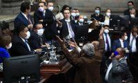 El Congreso podría sesionar en el Teatro Nacional o en el Domo de la zona 13 para cumplir con el distanciamiento social, según  los expertos. Fotografía: Prensa Libre.
