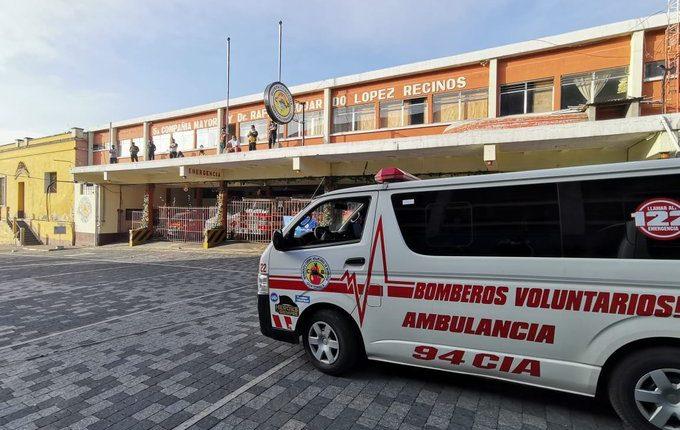 Bomberos Voluntarios de Xela salen de cuarentena. (Foto Prensa Libre: CBV)