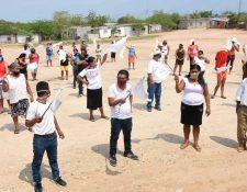 mil 500 personas de la aldea Pueblo Modelo en Zacapa, claman por ayuda del Gobierno. (Foto Prensa Libre: Wilder López)