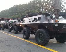 Vehículos blindados para transporte de personal del Ejército de Guatemala está en pruebas mecánicas, luego de estar en mantenimiento. (Foto Prensa Libre: Ejército de Guatemala)