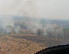 El fuego se extiendo por varios kilómetros en diferentes puntos de Petén. (Foto Prensa Libre: Hemeroteca PL)