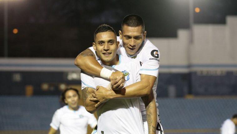 Jorge Aparicio le anotó un doblete a Municipal en el último partido del Clausura 2020. (Foto Prensa Libre: Twitter @CremasOficial)