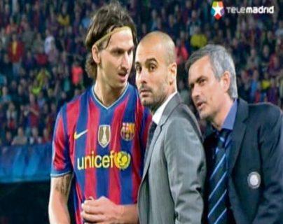 José Mourinho y Pep Guardiola, en la Champions League. (Foto Prensa Libre: Hemeroteca PL)