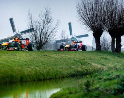 La escudería Aston Martin Red Bull presentó un video recorriendo lugares emblemáticos de Holanda. Foto Prensa Libre: Cortesía RedBull