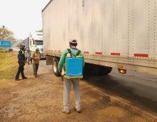 Desde hace varios días se han tomado medidas de sanitización en San Benito, Petén.(Prensa Libre: Dony Stewart)
