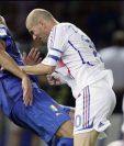 Zidane en el momento que golpeó a Materazzi en la final del Mundial del 2006. Foto redes.
