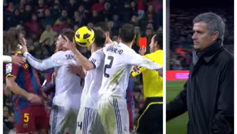 El primer clásico español de José Mourinho ha sido una de las derrotas más dolorosas en su carrera. (Foto Prensa Libre: Captura YouTube)