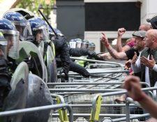 La extrema derecha realizó este sábado protestas en varias ciudades de Europa. PA Media