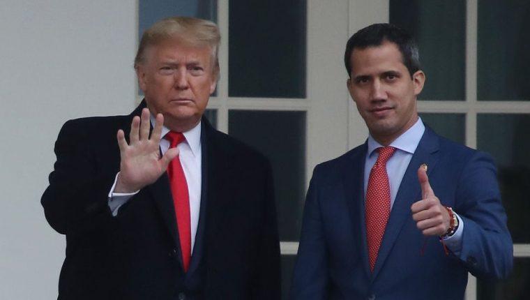 Trump no parece especialmente entusiasta con Guaidó.
