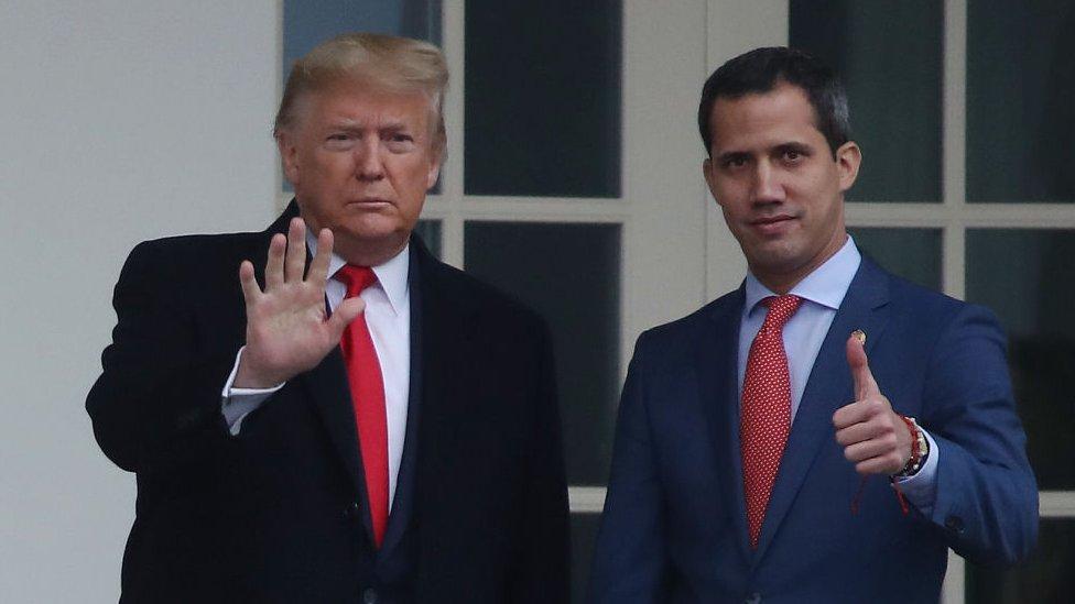"""Venezuela: Trump no descarta reunirse con Maduro y dice que """"no estaba necesariamente a favor"""" de apoyar a Guaidó"""