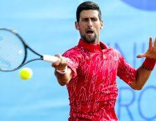 El tenista serbio Novak Djokovic, número uno mundo. (Foto Prensa Libre: EFE)