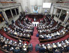 El proceso para la elección de magistrados se prevé que será tardado en el Congreso. (Foto Prensa Libre: Congreso)