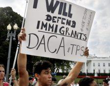 La intención de cancelar el DACA ha generado protestas en Estados Unidos. (Foto Prensa Libre: Hemeroteca PL)