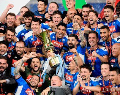 El Nápoli se consagró campeón de la Copa de Italia. (Foto Prensa Libre: AFP)