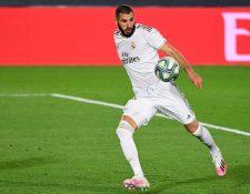 Karim Benzema es el segundo en la tabla de goleadores de la Liga española. (Foto Prensa Libre: AFP)