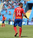 El 14 representa al salvadoreño Jaime Alas con la afición de los rojos. (Foto Prensa   Libre: Jaime Alas)