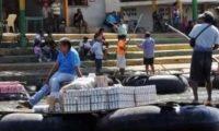 El río Suchiate es paso para los productos de contrabando. (Foto Prensa Libre: Hemeroteca PL)