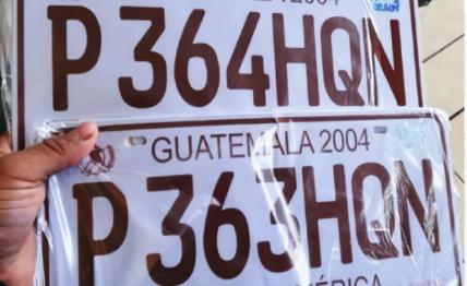 Gobernación advierte que quien altere la placa de su vehículo será capturado