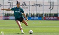 Cristiano Ronaldo regresó más rápido y más fuerte a la Juventus después de la cuarentena. (Foto Prensa Libre: Juventus FC)