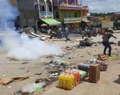 Área donde se registraron los disturbios en Ixcán, Quiché. (Foto Prensa Libre: Santiago Boton y Joel Pérez)